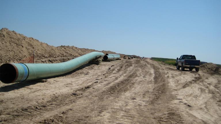 Pipes for the Keystone Pipeline in Swanton, Nebraska, Aug. 13, 2009. (Credit Wikimedia Commons / ShannonPatrick17)