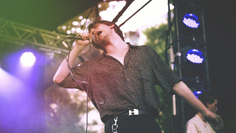Iceage performs at Pitchfork in 2015. (Ellie Pritts / Pitchfork)