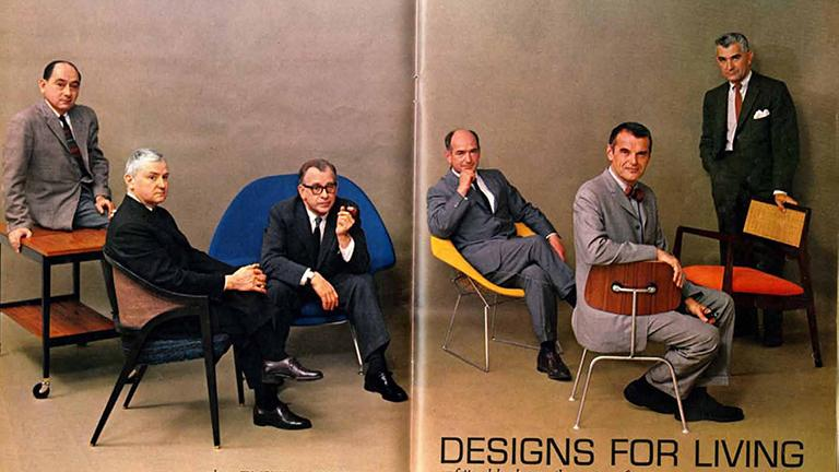 """Designs for Living"" article in July 1961 Playboy magazine issue. (Courtesy of Elmhust Art Museum)"