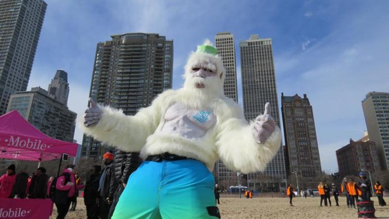 Last year's plunge saw mild temperatures and plenty of sun. (Courtesy of the Lakeview Polar Bear Club)