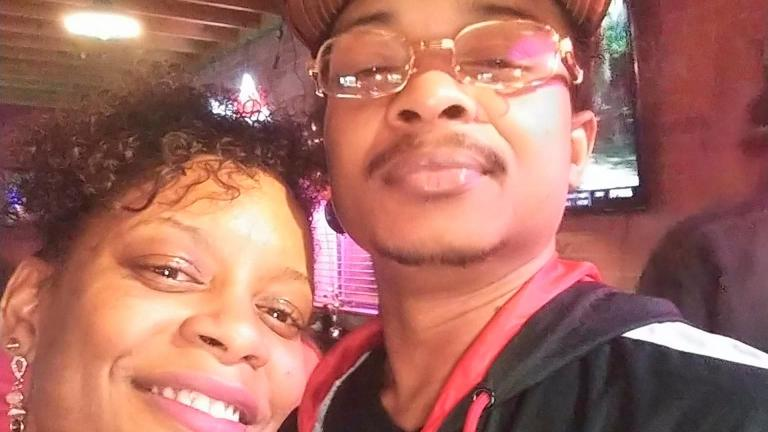 In this September 2019 file photo taken in Evanston, Ill., and provided by Adria-Joi Watkins, Watkins, left, poses in a selfie with her second cousin Jacob Blake. (Adria-Joi Watkins via AP, File)