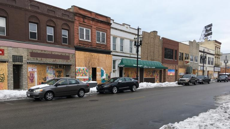 Windows are boarded up in Kenosha, Wis., Thursday, Jan. 7. 2021. The chaotic protests that everyone feared would ensue after a prosecutor decided this week not to charge a Wisconsin police officer who shot Jacob Blake, a Black man, in the back haven't materialized as activists bide their time after right-wing extremists stormed the U.S. Capitol. (AP Photo / Mike Householder)