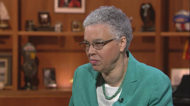 "Toni Preckwinkle appears on ""Chicago Tonight"" on June 22, 2017."