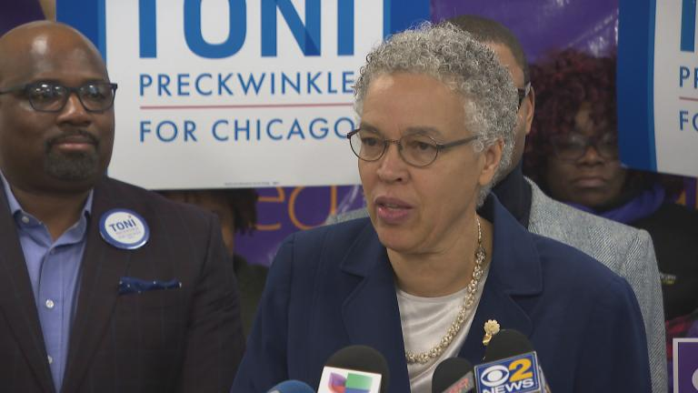 """I'm proud to receive the support of the Chicago Teachers Union, of SEIU Healthcare, of SEIU 73,"" said Cook County Board President Toni Preckwinkle on Thursday, Dec. 6, 2018."