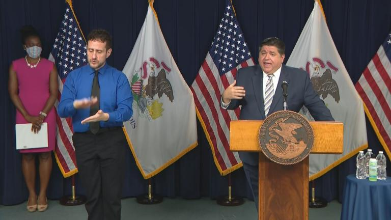 Gov. J.B. Pritzker speaks Wednesday, Sept. 16, 2020 about the impact of the coronavirus on the state and its finances.