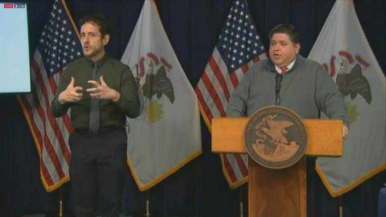 Gov. J.B. Pritzker speaks Monday, Nov. 16, 2020 during his daily COVID-19 briefing. (WTTW News)