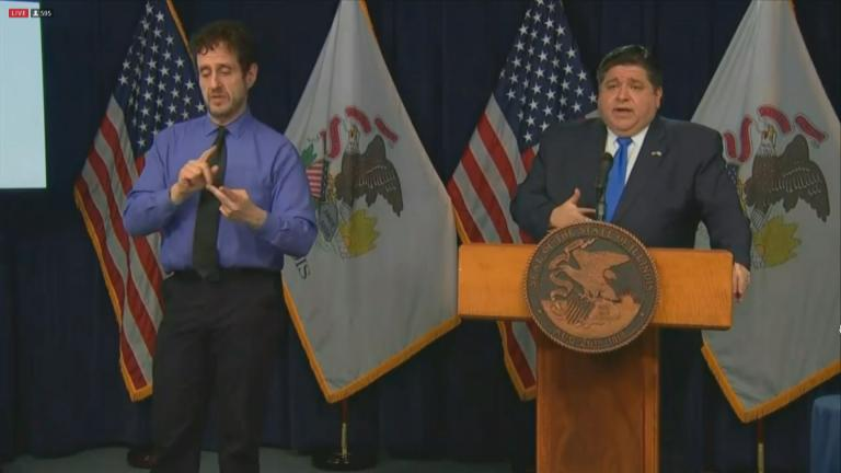 Gov. J.B. Pritzker speaks Monday, Nov. 30, 2020 about the spread of COVID-19 in Illinois. (WTTW News)