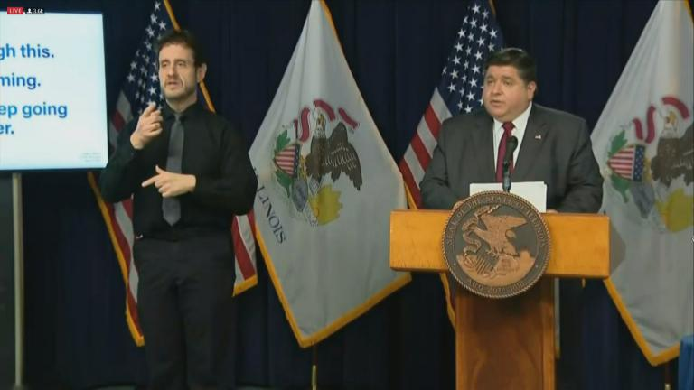 Gov. J.B. Pritzker provides an update on the coronavirus in Illinois on Tuesday, Nov. 17, 2020. (WTTW News)
