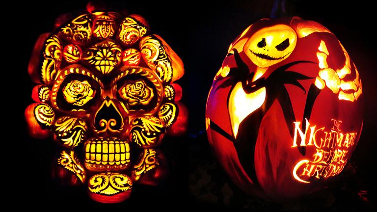Artists of the New York-based company Rise of the Jack O'Lanterns can spend up to 15 hours on a single gourd. (Courtesy of Rise of the Jack O'Lanterns)