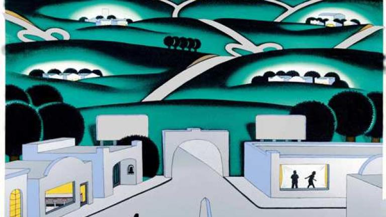 """See Seven Cities"" by Chicago Imagist, Roger Brown"