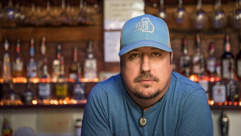 Todd Scott poses behind a bar in Porterdale, Ga. on June 1, 2016. (AP Photo / Lisa Marie Pane)