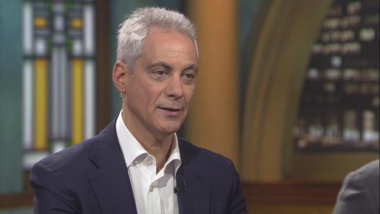 "Former Chicago Mayor Rahm Emanuel discusses his book on ""Chicago Tonight."" (WTTW News)"