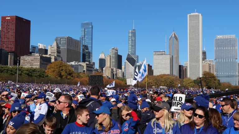The city estimates about five million people attended the Nov. 4 rally and parade. (Evan Garcia / Chicago Tonight)
