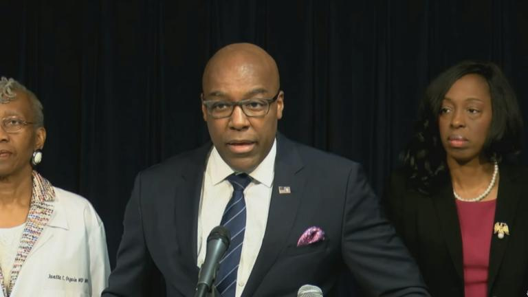 Illinois Attorney General Kwame Raoul speaks to the media Thursday, Dec. 12, 2019. (WTTW News via BlueRoomStream)