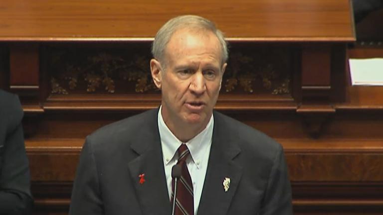 Gov. Bruce Rauner delivers his second budget address.