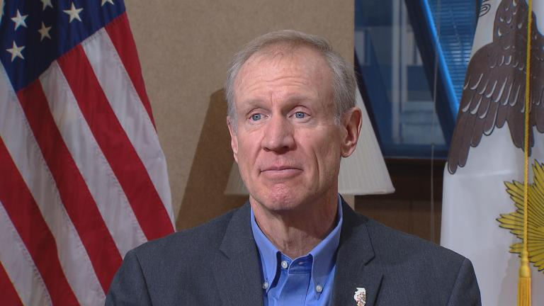 Gov. Bruce Rauner sits down for an interview with Chicago Tonight political correspondent Paris Schutz on Jan. 4, 2017.