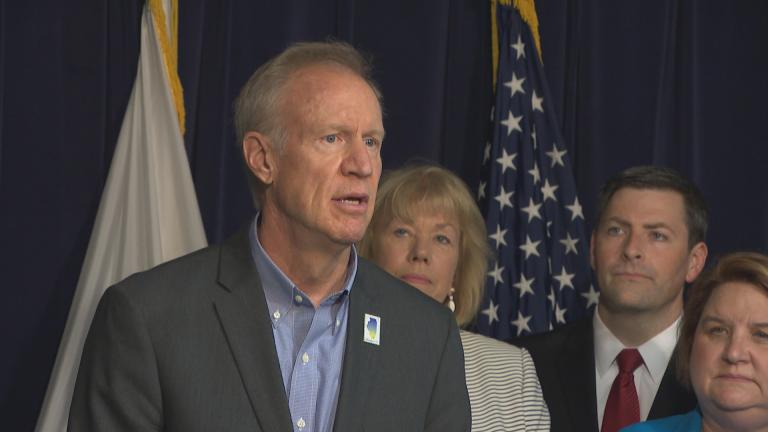 """I want to commend members of the General Assembly for working on a bipartisan basis. They passed, and today I will sign, House Bill 2354,"" Gov. Bruce Rauner said Monday, July 16, 2018. (Chicago Tonight)"