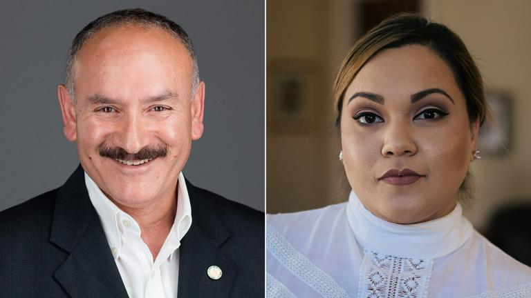 Aldermanic candidates for the 30th Ward: Incumbent Ald. Ariel Reboyras and Jessica Gutierrez.