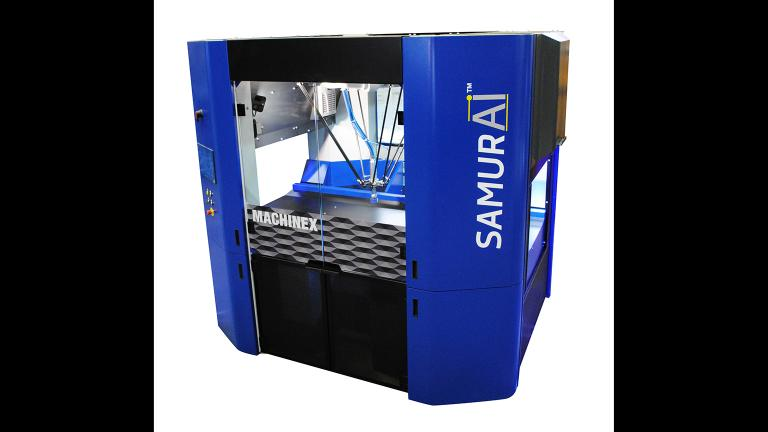 The SamurAI sorting robot, manufactured by Canada's Machinex Technologies. (Courtesy Lakeshore Recycling Systems)