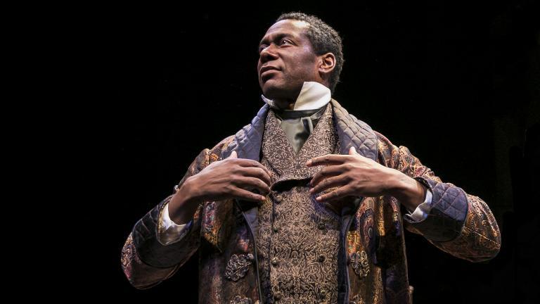 "Actor Dion Johnstone portrays Ira Aldridge in Chicago Shakespeare Theater's production of ""Red Velvet."" (Photo by Liz Lauren)"