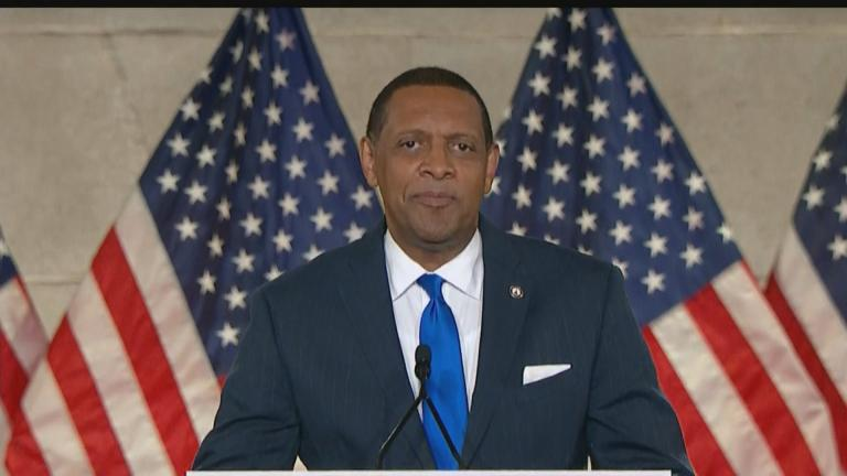 Georgia state Rep. Vernon Jones, a Democrat, speaks at the Republican National Convention on Monday, Aug. 24, 2020. (WTTW News via RNC)