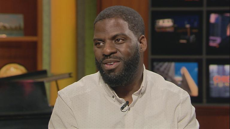 """Che """"Rhymefest"""" Smith appears on """"Chicago Tonight"""" in October 2015 to discuss his documentary, """"In My Father's House."""""""