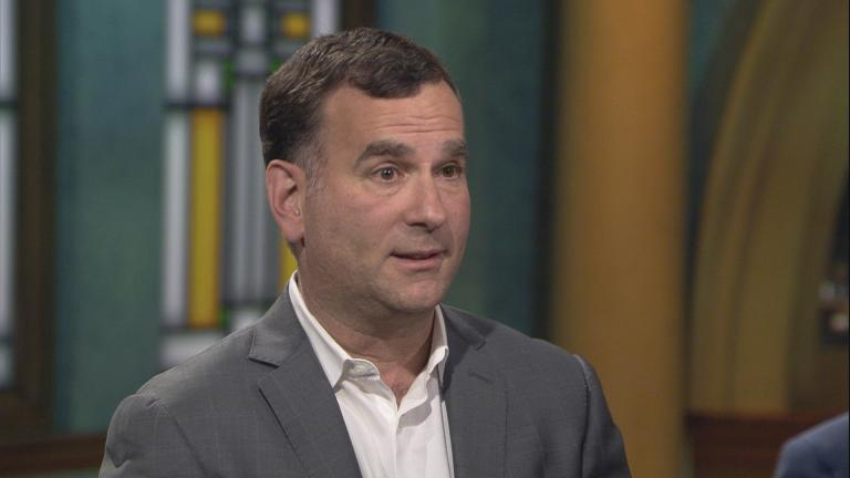 "Chicago White Sox general manager Rick Hahn appears on ""Chicago Tonight"" on Monday, Jan. 27, 2020. (WTTW News)"