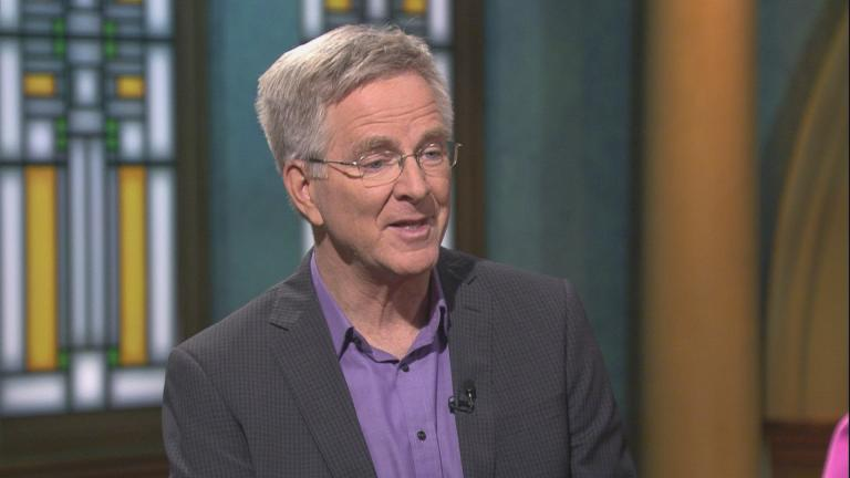"Rick Steves, host of ""Rick Steves' Europe,"" appears on ""Chicago Tonight."" (WTTW News)"
