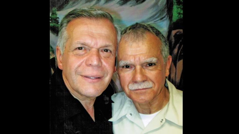 Jose López, left, and Oscar López Rivera (Courtesy of Jose López)
