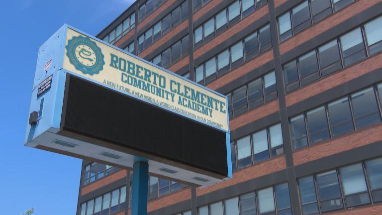 Roberto Clemente Community Academy in Chicago. (WTTW News)