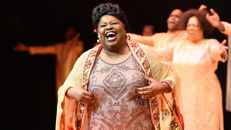 Robin DaSilva as Mahalia Jackson (Credit: Michael Courier)