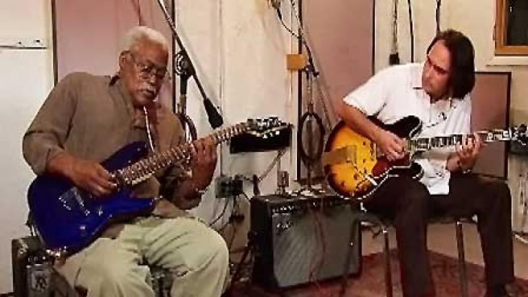 Jimmy Burns (left) and Rockin' Johnny