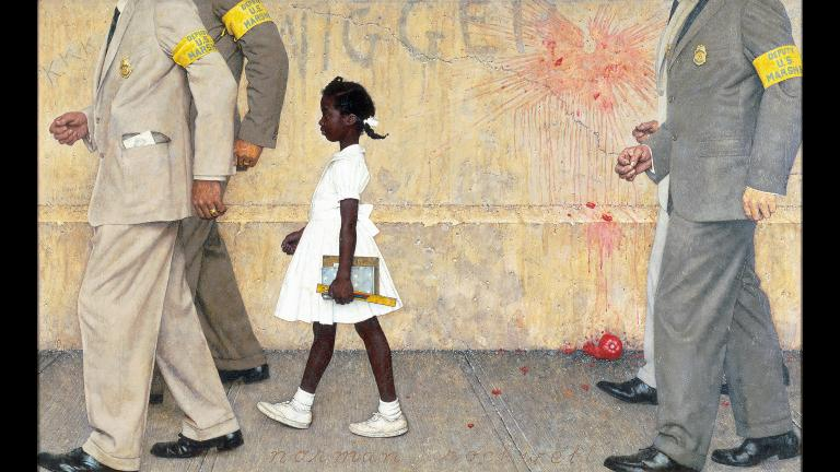 "Norman Rockwell's painting ""The Problem We All Live With."""