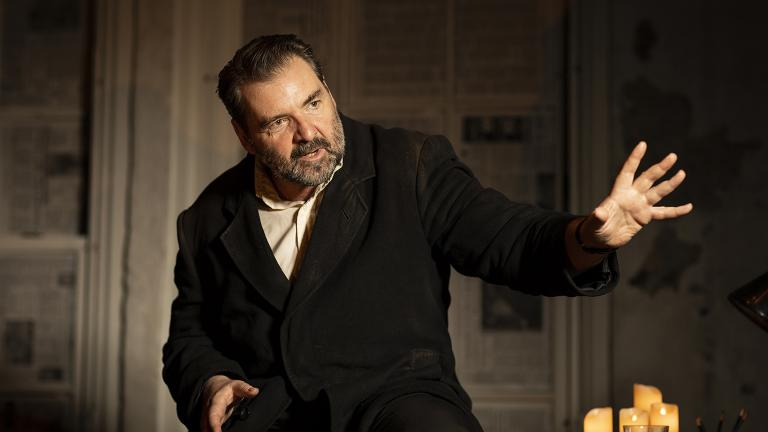 "Brendan Coyle in ""St. Nicholas"" (Photo by Helen Maybanks)"