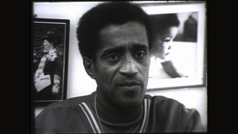 "Sammy Davis Jr. appears on WTTW's ""Our People"" in 1968. (WTTW)"