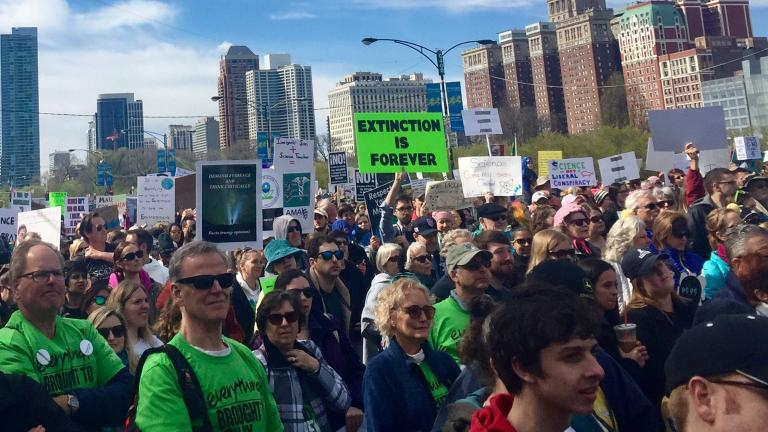 March for Science Chicago organizers said 60,000 people attended the April 22 event. (Susan Wigodner / Twitter)