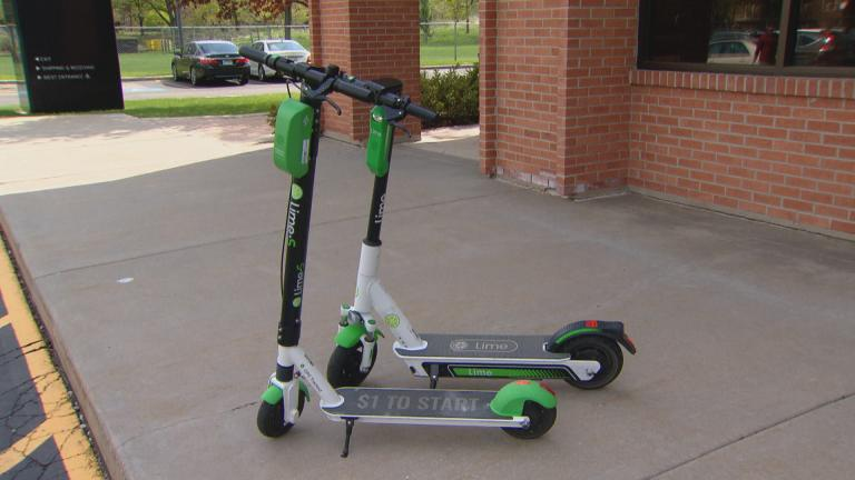 WTTW News takes a test ride on a pair of electric scooters by the company Lime.