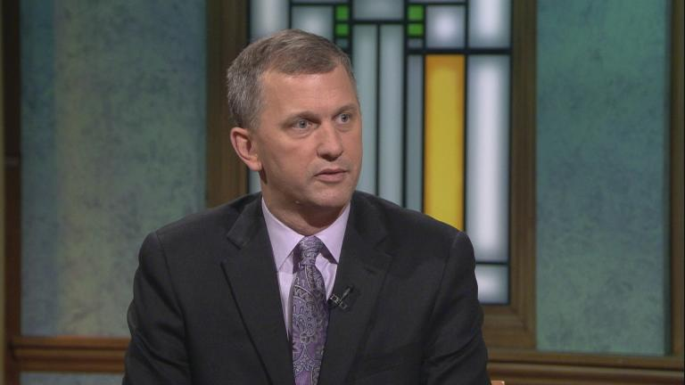 "Sean Casten appears on ""Chicago Tonight"" on Nov. 7, 2018."