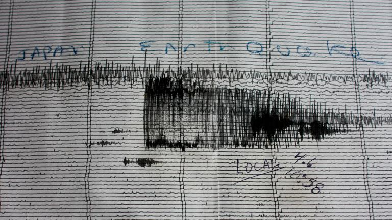 The seismographs at Hawaii Volcanoes National Park visually depict the suddenness and intensity with which the 2011 Tōhoku Earthquake devastated the islands of Japan. (Joe Parks / Flickr)