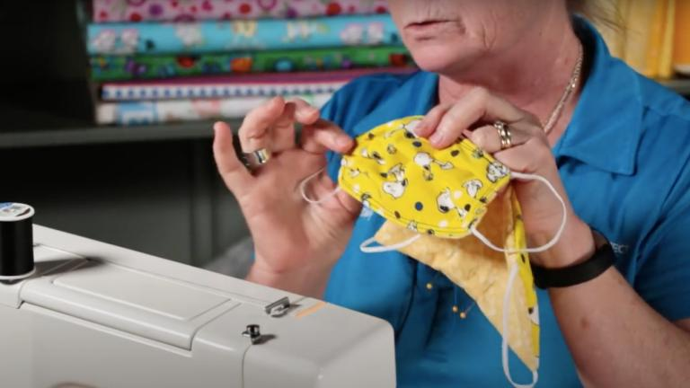Mask sewing tutorials abound on YouTube. (Kathy Braidich / YouTube)