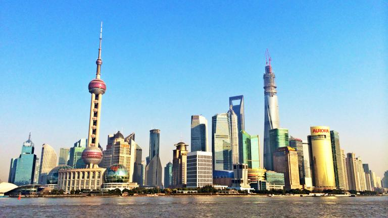 Shanghai's Pudong district in January 2014.