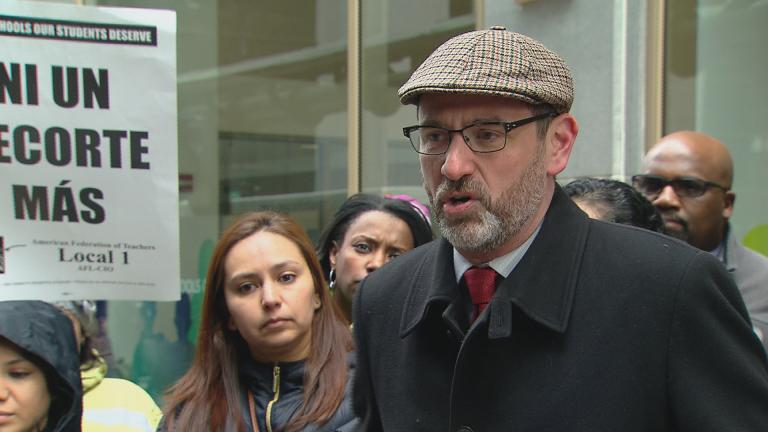Chicago Teachers Union Vice President Jesse Sharkey (Chicago Tonight)