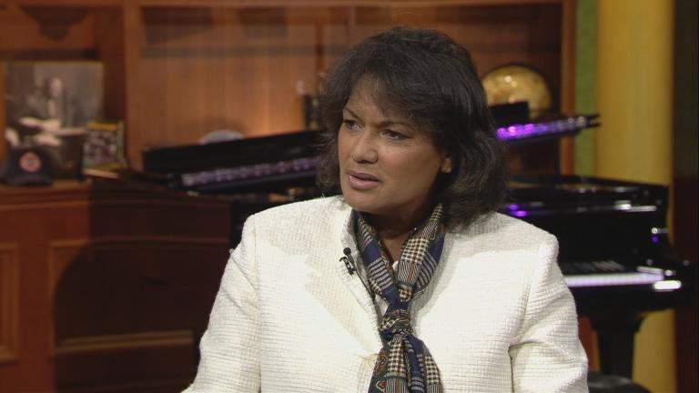 "Sharon Fairley appears on ""Chicago Tonight"" on Sept. 14."