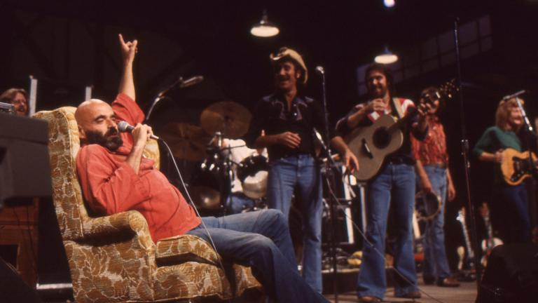 "Shel Silverstein, left, performs on ""Soundstage"" at WTTW in 1979. (WTTW News)"