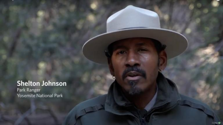 Yosemite park ranger Shelton Johnson makes a strong case for representation and inclusivity. (The Nature Conservancy / YouTube)