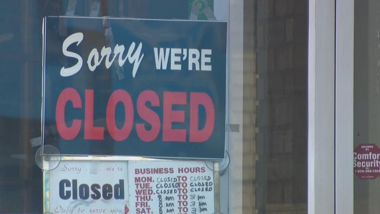 A small business in Kenosha, Wisconsin, on April 7, 2020. (WTTW News)