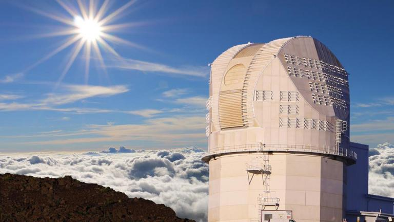 The Daniel K. Inouye Solar Telescope (Photo courtesy of NSO / NSF / AURA)