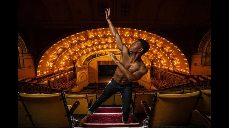 Alvin Ailey American Dance Theater's Solomon Dumas (Photo by Todd Rosenberg)