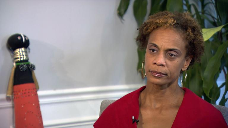 Sonya Anderson speaks with Brandis Friedman about the fatal shooting of her stepson Miles Thompson. (WTTW News)