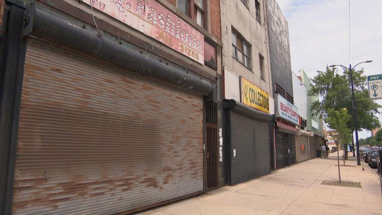 Retail businesses in South Chicago sustained property damage during recent incidents of looting. (WTTW News)